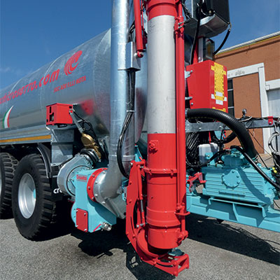Telescopic loading arm with hydraulic anti-drip system, diameter 200, 220, 270 and 300 mm