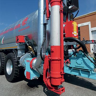 Bras de chargement téléscopique avec dispositif hydraulique anti-égouttage avec diamètre 200, 220, 270 ou 300 mm