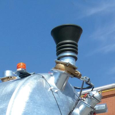 Elemento superiore con cono in gomma per carico dall'alto
