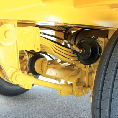 ADR suspensions, 4 leaves, with air braking system