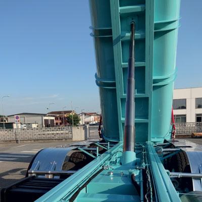 Bennage avec cylindres hydrauliques cementés