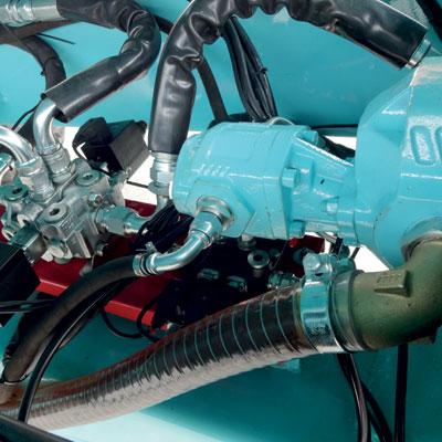 Bennage avec double pompe hydraulique