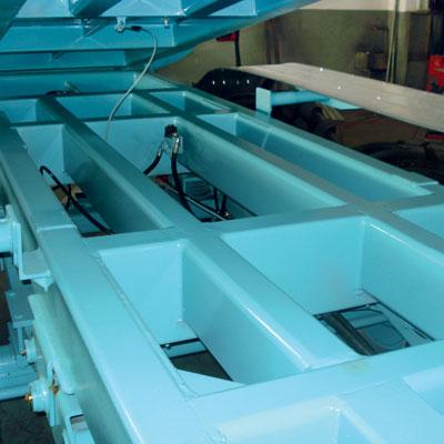 Telaio in profili tubolari strutturali a sezioni maggiorate