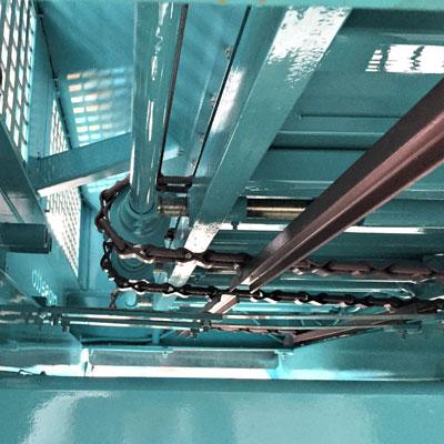 Chaines majorées avec tendeur hydraulique